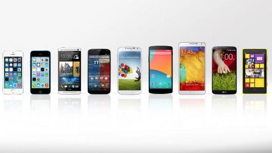 Sharp increase in sales of Smartphone's in 2013