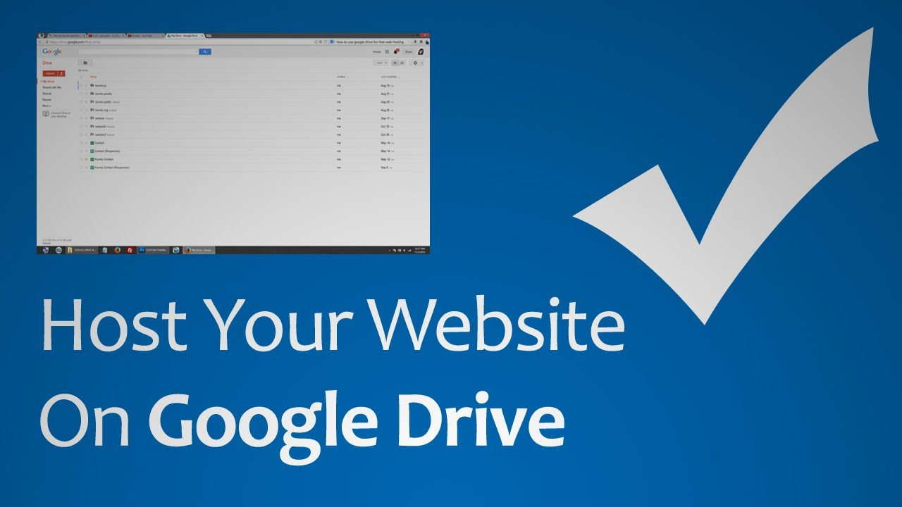 Create the Right Use of Google Drive for Hosting Your Own Website For Free