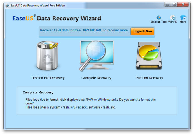 EaseUS Data Recovery Wizard is a Good Hard Drive Data Recovery Software for Free