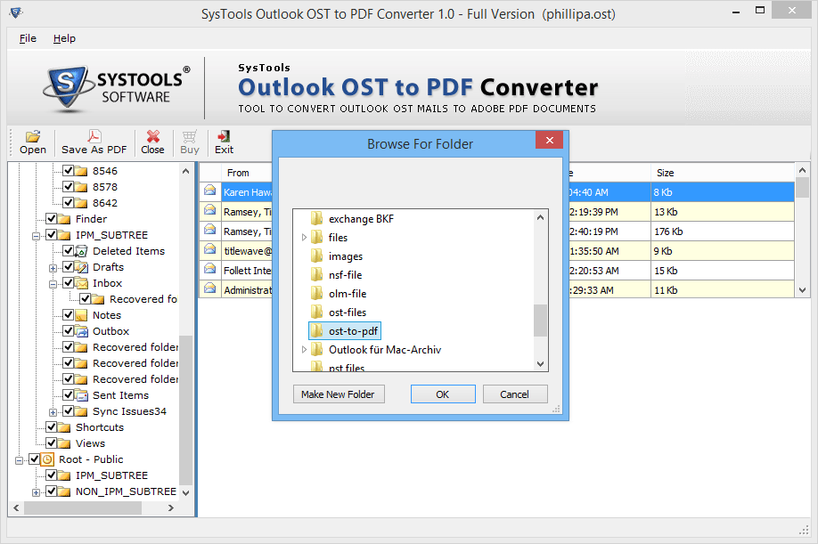 OST to PDF Converter 3