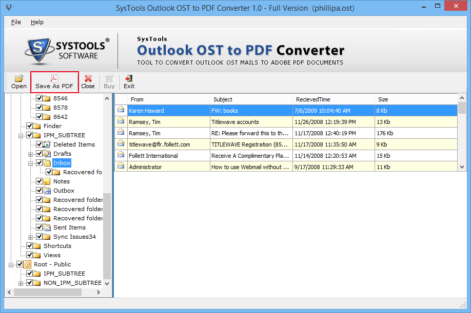 OST to PDF Converter 4