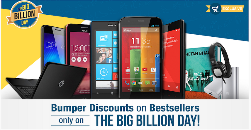 Flipkart Big Billion Day Offer 2015 Sale Starts Oct 13