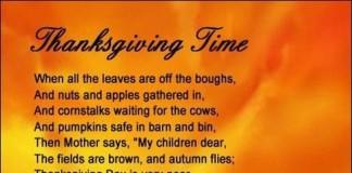 Happy Thanksgiving Poems & Prayer