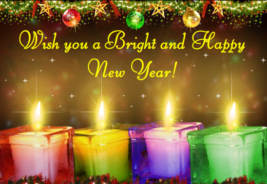 happy new year greeting cards   science and technology, Greeting card