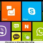 Alternatives to WhatsApp Video Calling