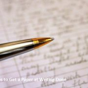 Steps to Get a Paper at Writing Done