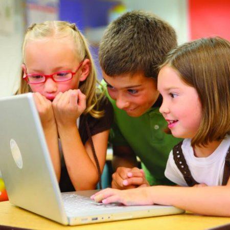 Children Learning Programming