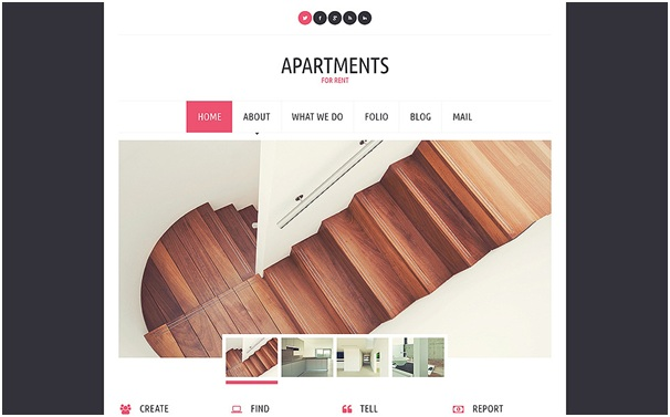 Apartments for Rent WordPress Theme 1