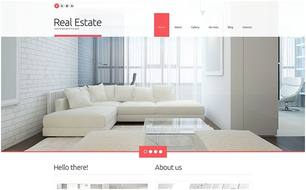Real Estate Agency Responsive WordPress Theme 1