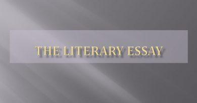 Write a Literary Essay