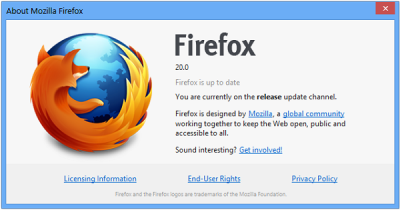 Final Version of Firefox 20