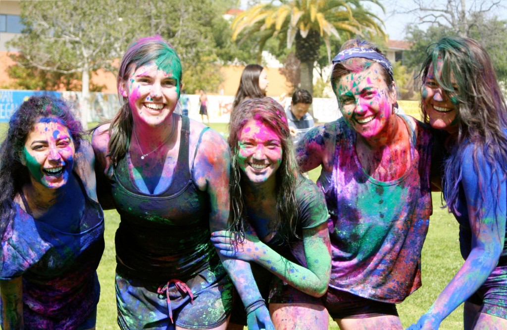 Colorful-Girls-Face-In-Celebration-Holi