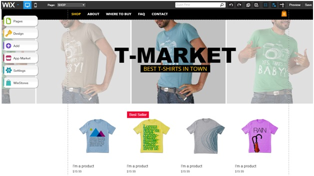 eCommerce Website Using WixStores