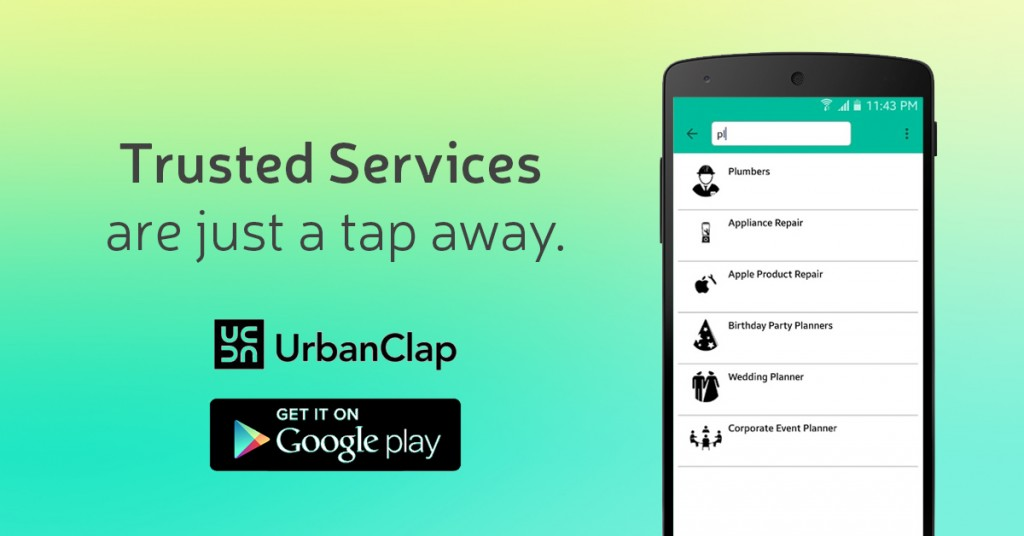 urbanclap trusted services