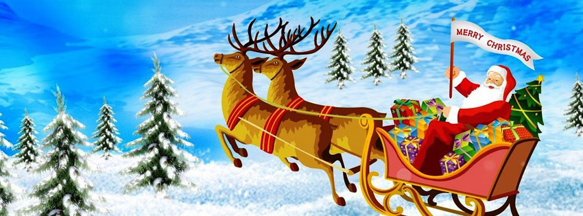 Merry Christmas Facebook Cover, Merry XMAS Messages and Quotes - Techicy