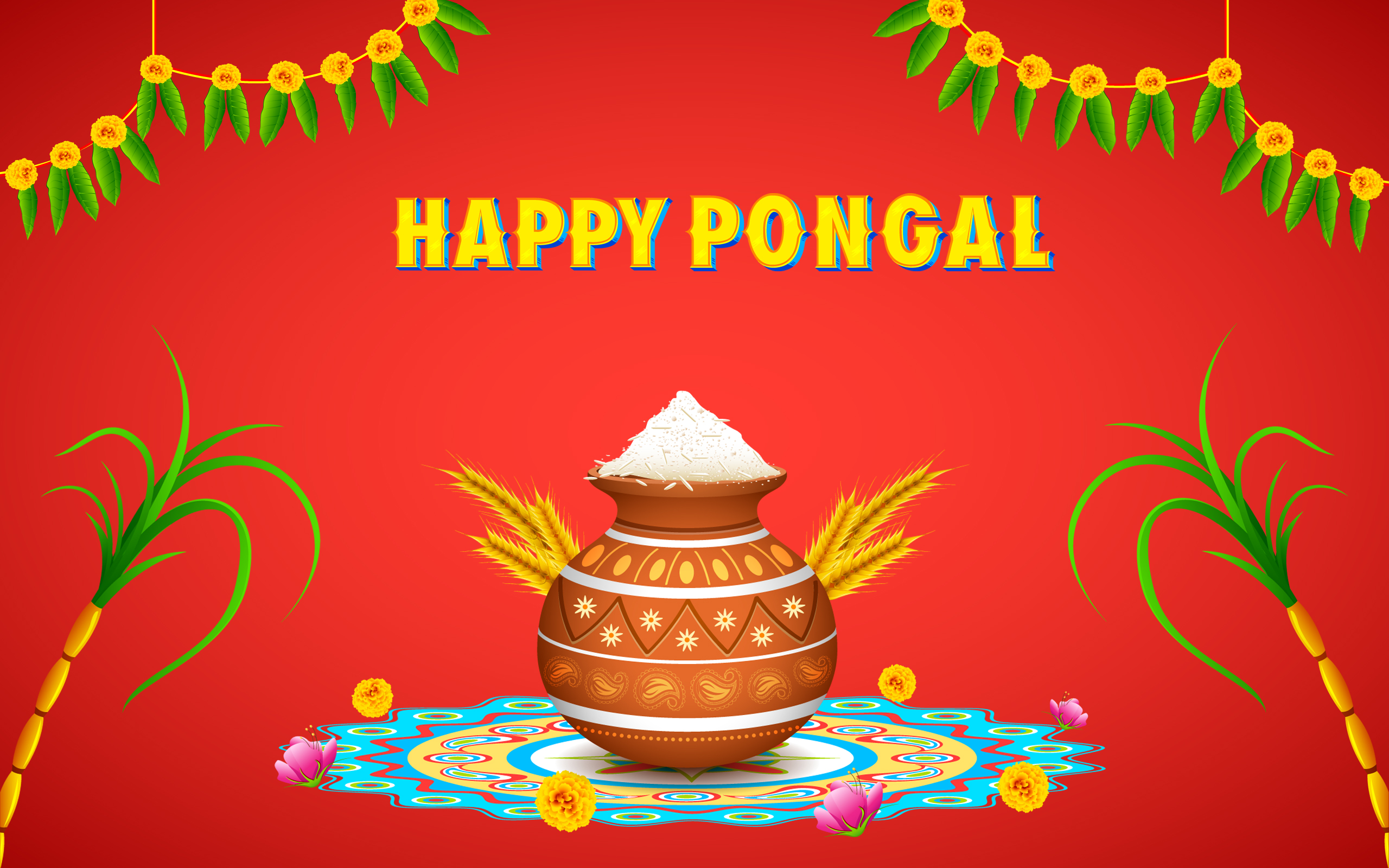 Happy pongal 2018 wishes sms text messages techicy happy pongal 2016 wishes m4hsunfo