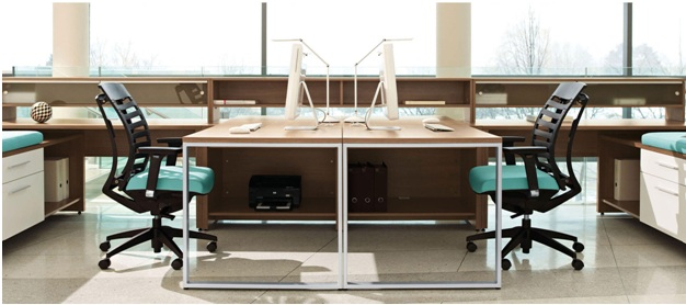 positioning of office workstations, supplies available