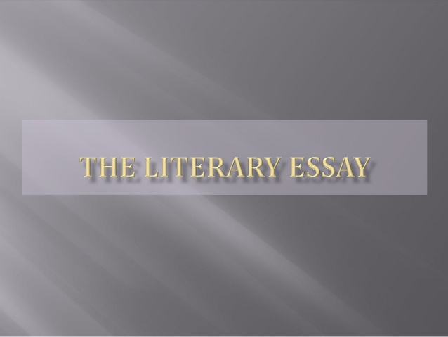 Write a Literary Essay