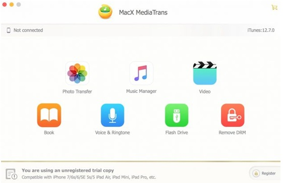MacX MediaTrans - transfer data without iTunes even on the new iPhone