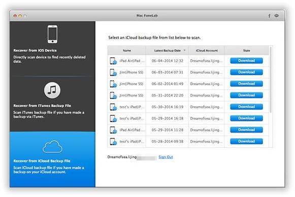Download iCloud Backup to Computer 1
