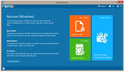 Remo Windows photo recovery