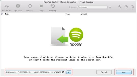 Add Spotify Music