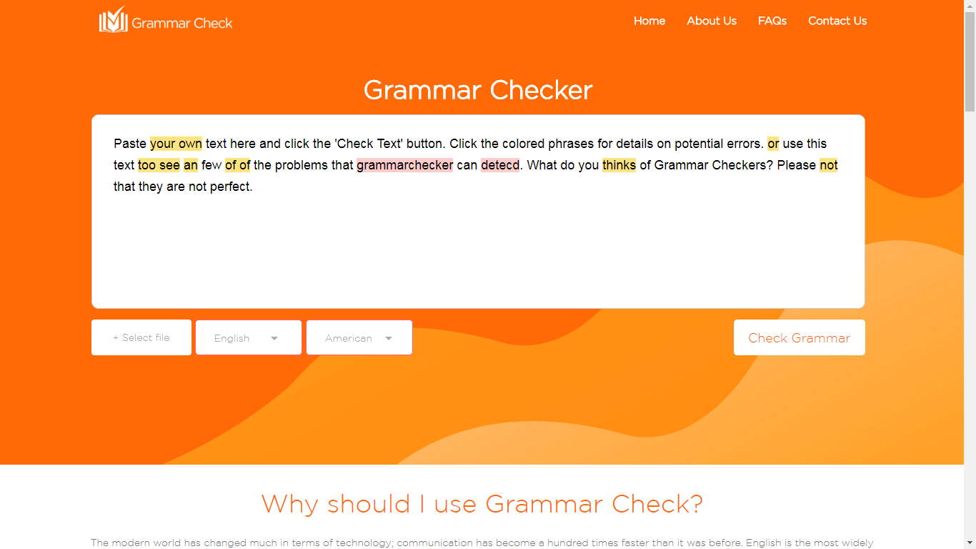 Online Grammar Check Software
