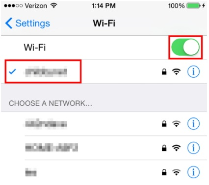 Use Wi-Fi instead of Cellular Data