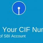 CIF number sbi