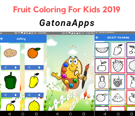 GatonaApps - vegetables coloring book 2019