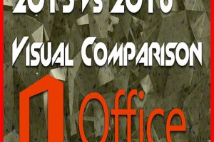 Comparison of Microsoft Office 2013 and 2016