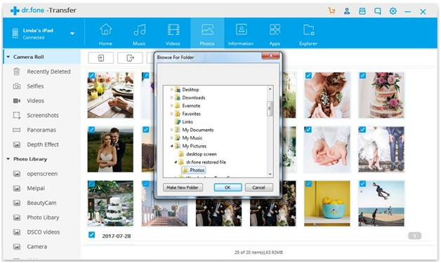 import photos from iPhone to Windows