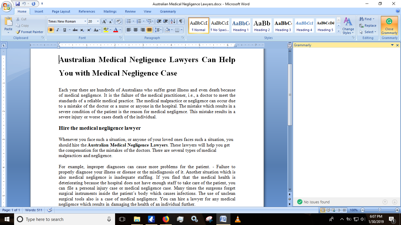 Australian Medical Negligence Lawyers Can Help You With Medical Negligence Case