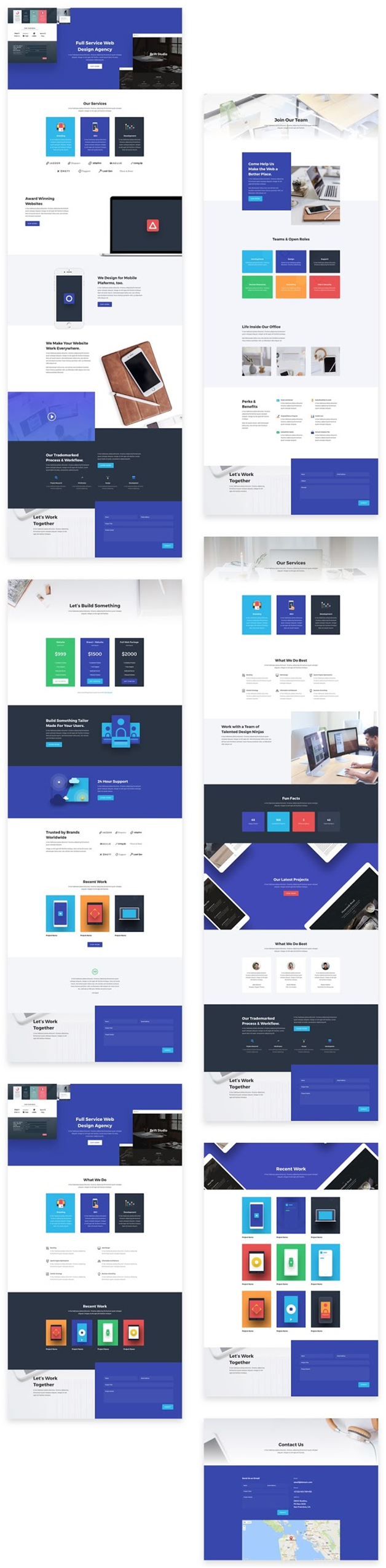 7 Divi Portfolio Layouts for Showcasing Your work