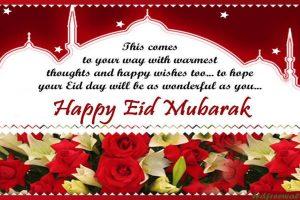 Eid Mubarak Whatsapp Status and Facebook Messages