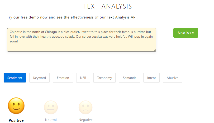 Text Analysis APIs