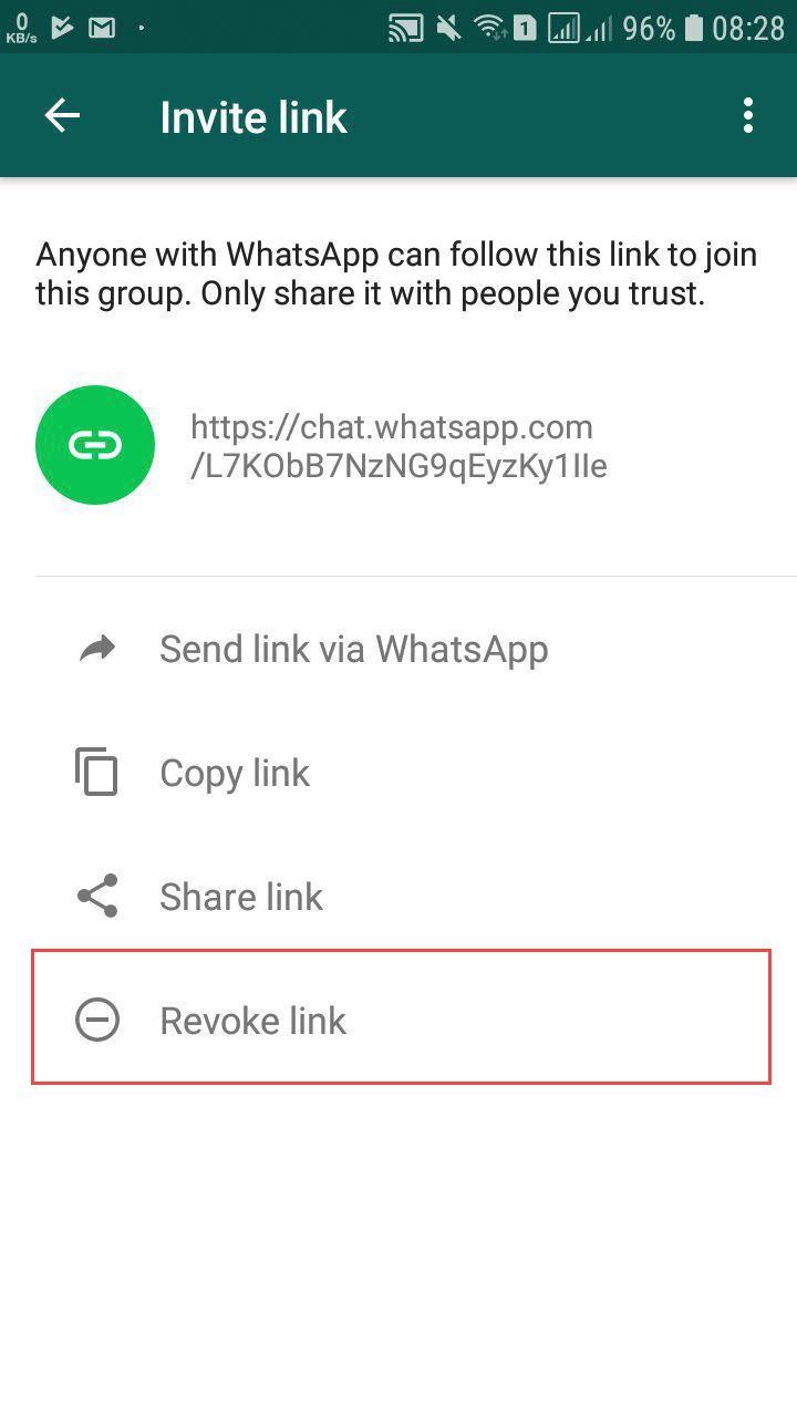 Whatsapp Group Revoke Link