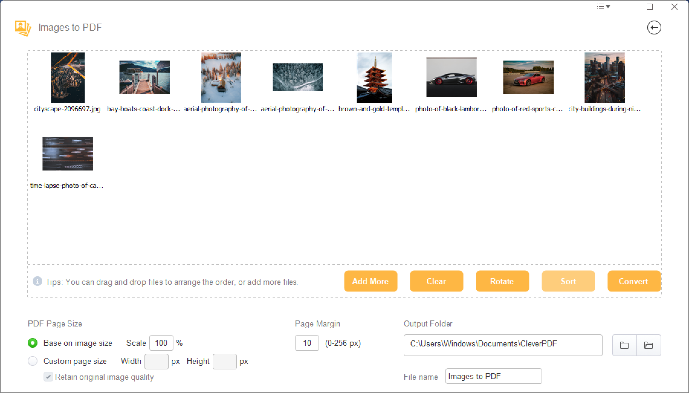 How To Combine Multiple Images To PDF For Free