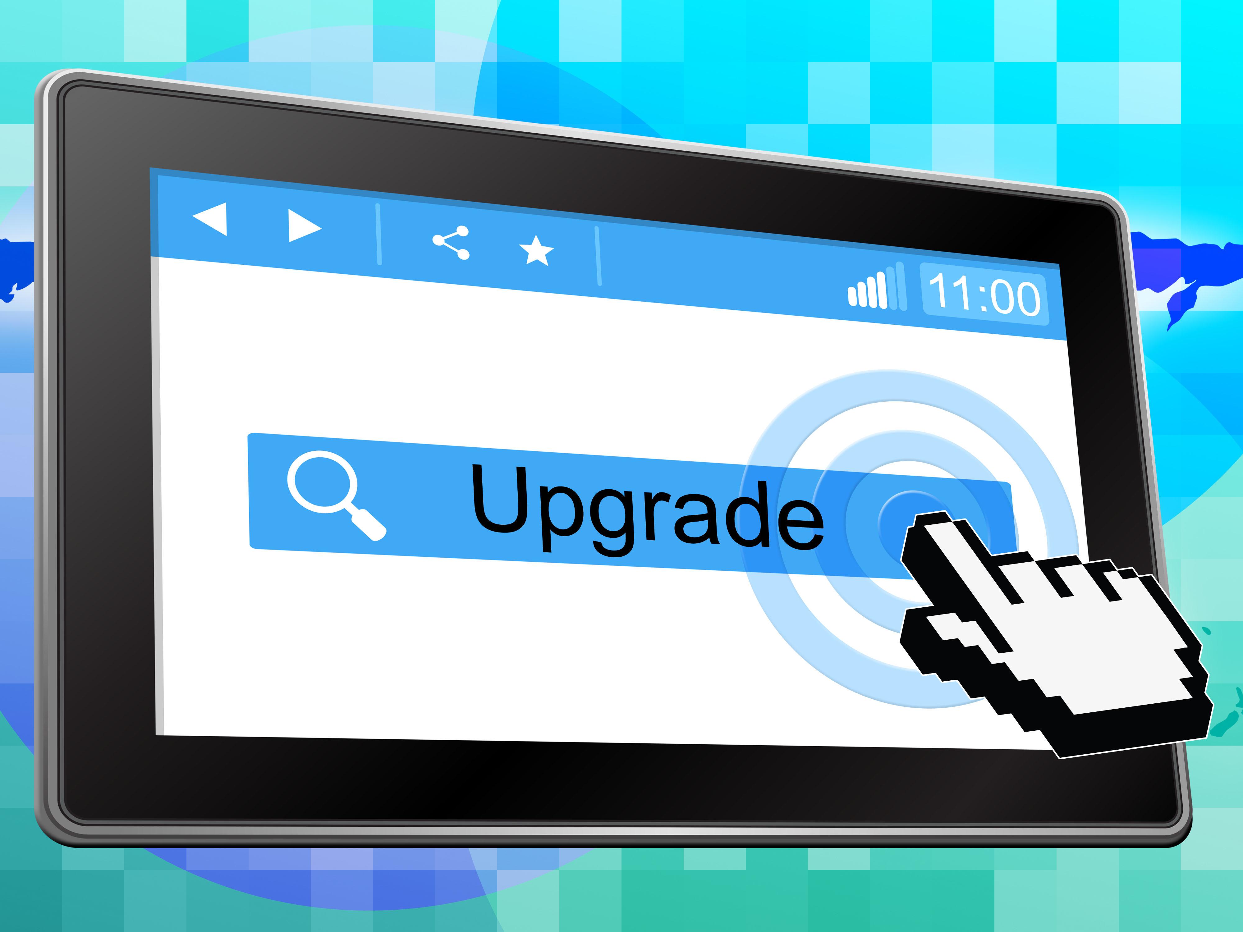 Online Upgrade Indicates World Wide Web And Refurbish