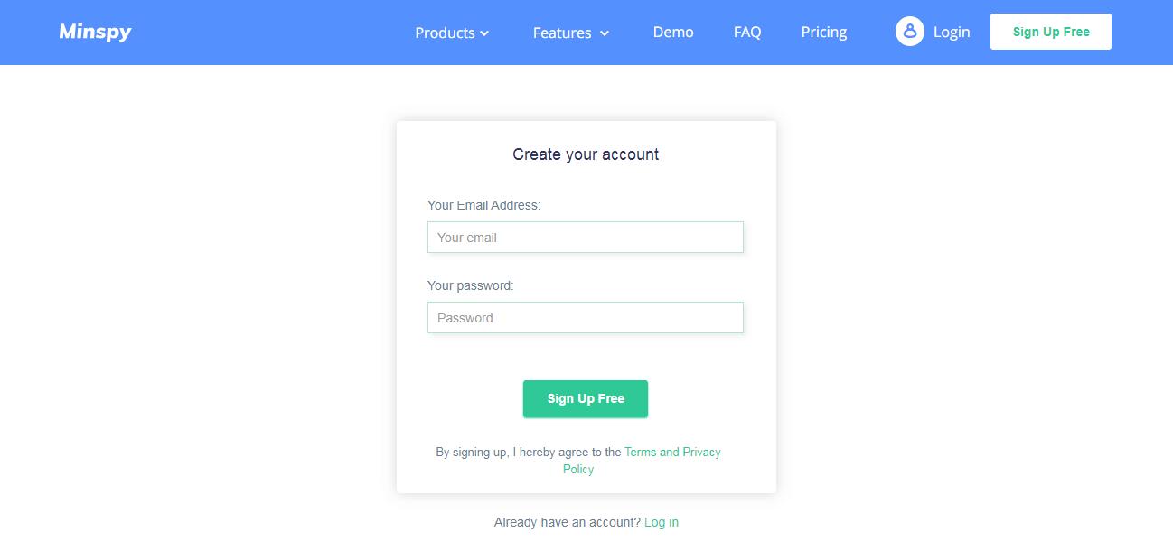minspy-sign-up