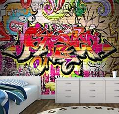 Colorful Graffiti Girl