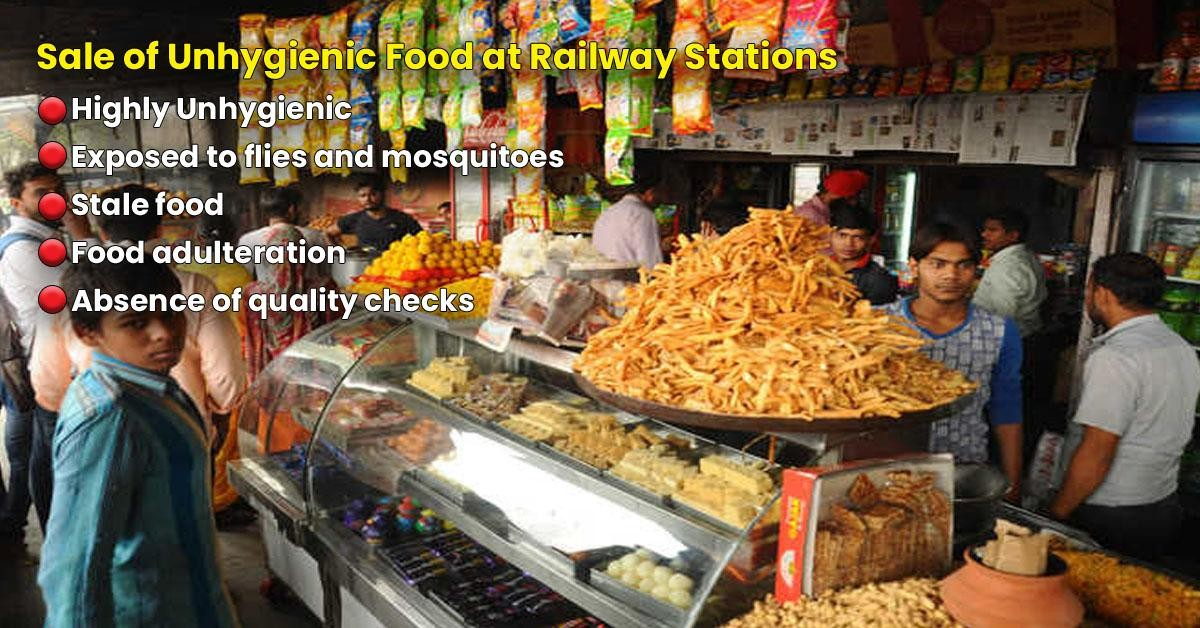 Stay away from unauthorized food vendors at Railway Stations