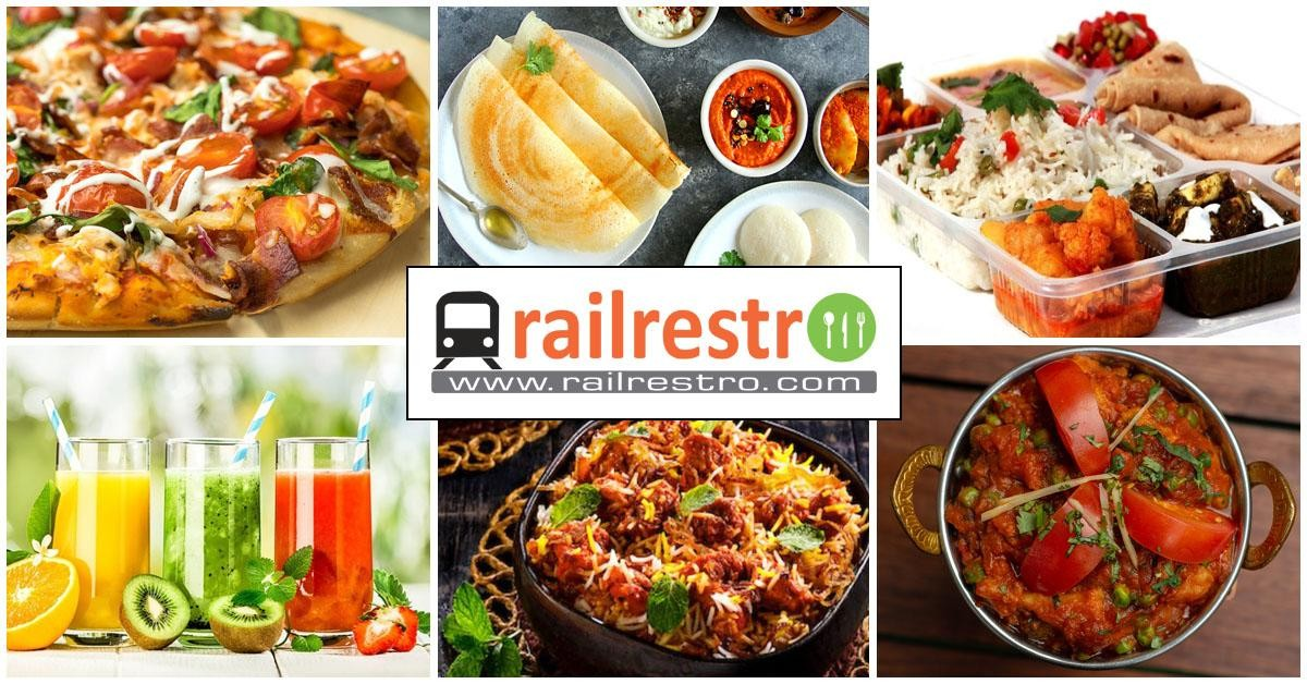The extensive food options available while travelling on an Indian train