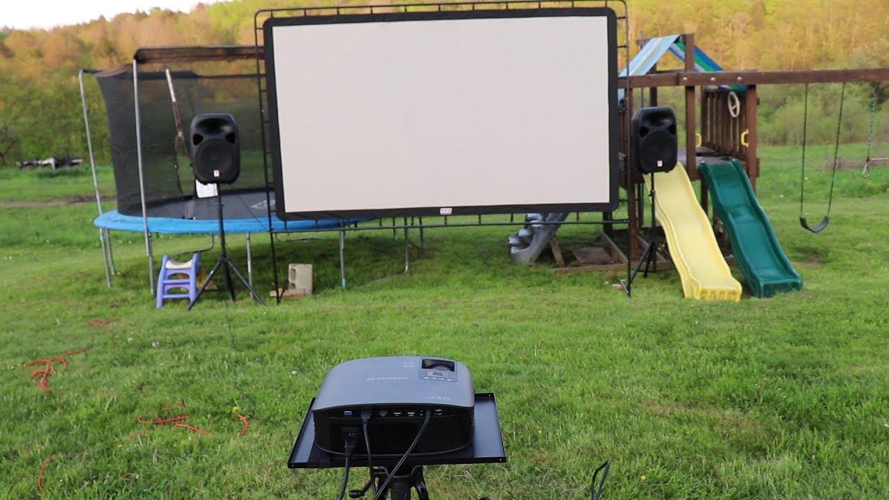 Outdoor Projector Setup Ideas