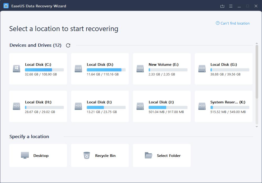 EaseUS Data Recovery Wizard _1