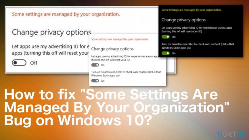 """Managed By Your Organization"""" Error Messages"""
