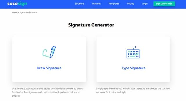 CocoSign Electronic Signature Platform _2