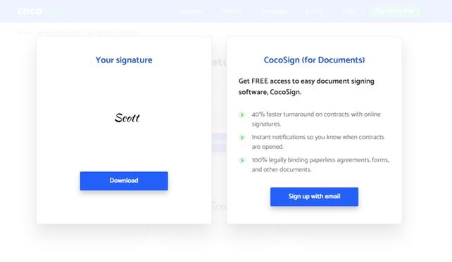CocoSign Electronic Signature Platform_3
