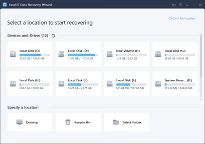 Steps to recover the data