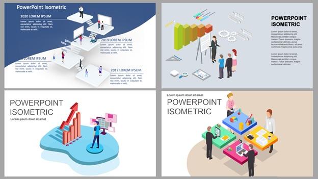 PowerPoint-Unique Isometric Illustrations
